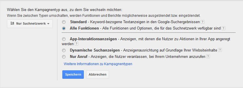 Steuerung Google Adwords