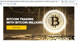 Bitcoin Werbung für Investoren